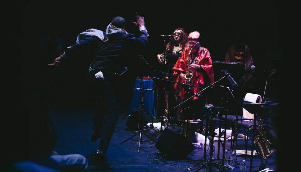 Sun Ra Arkestra (pictured: Knoel Scott, Tara Middleton, and Marshall Allen, l to r) / Photo Christopher Andrew