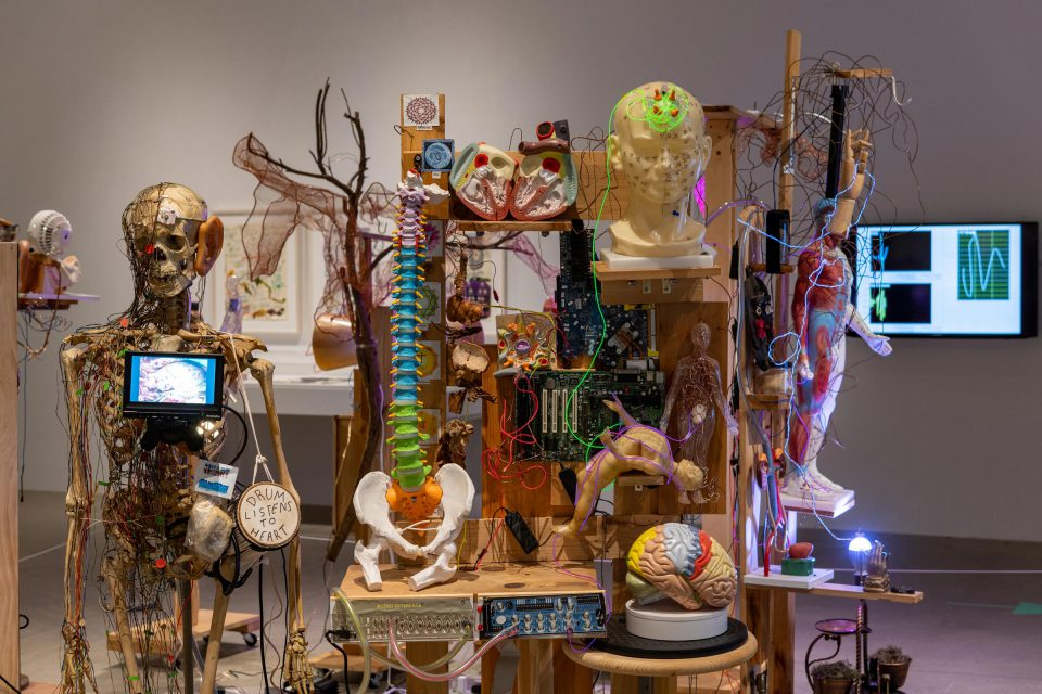 installation view of Milford Graves: A Mind-Body Deal at ICA Philadelphia